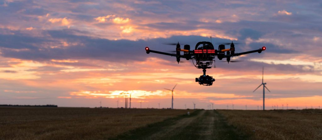 drone_france_sunset_newholland_windturbines