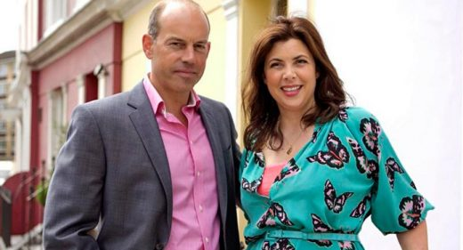 Drone aerial filming Location Location Kirstie Allsopp Phil Spencer
