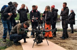 Drone aerial filming specialists for TV drama series in UK